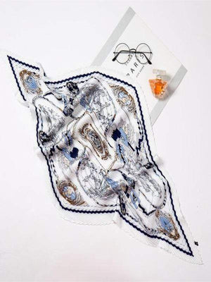 Rosaline scarf YZ31-White Curly scarf