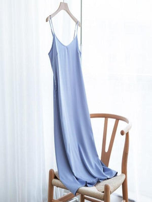 Rose&Lin Dress light blue / XXL Dress Summer Satin  Soft