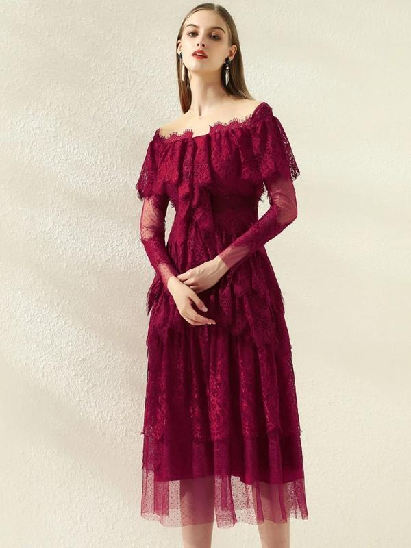 Rose&Lin Dress Red / S / China Dress Red