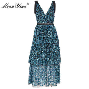 Rose&Lin Dress Short sequin dress