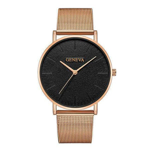 Rose&Lin watch A Women's rose gold watch, ultra-thin mesh strap