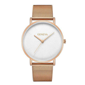 Rose&Lin watch B Women's rose gold watch, ultra-thin mesh strap