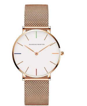 Rose&Lin watch High quality Hannah Martin quartz watch, 36mm stainless steel