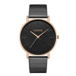 Rose&Lin watch N Women's rose gold watch, ultra-thin mesh strap