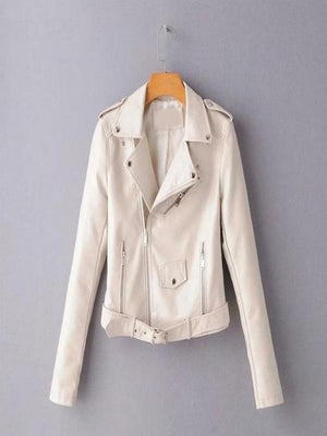 Silver Sam Jackets & Coats L / Beige Leather Jacket