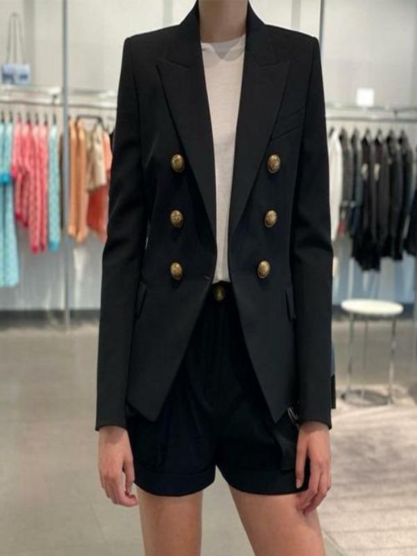 Silver Sam Jackets & Coats L / Black Metallic buttons blazer