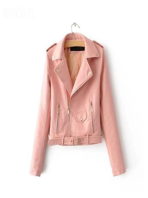 Silver Sam Jackets & Coats L / Pink Leather Jacket