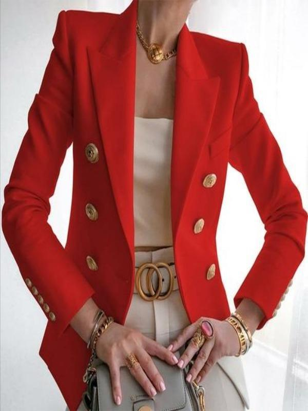 Silver Sam Jackets & Coats L / Red Metallic buttons blazer