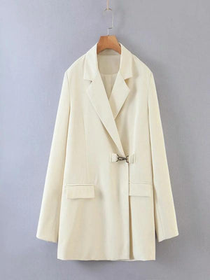 Silver Sam Jackets & Coats L / white White Blazer Coat