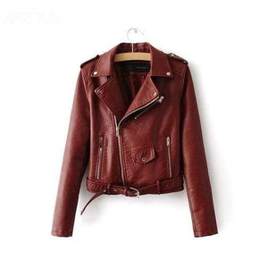 Silver Sam Jackets & Coats L / Wine Red Leather Jacket