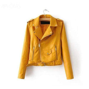 Silver Sam Jackets & Coats L / Yellow Leather Jacket