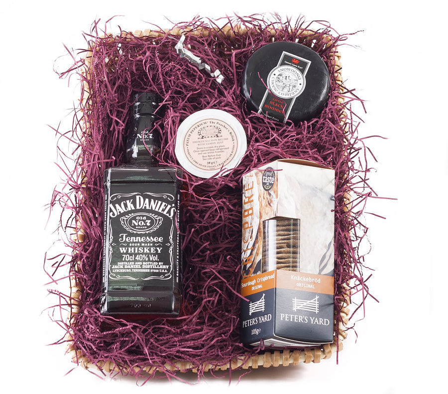 Whiskey Hamper with Jack Daniels