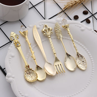 Vintage Royal Style - 6pcs Vintage Spoons and Forks Sets