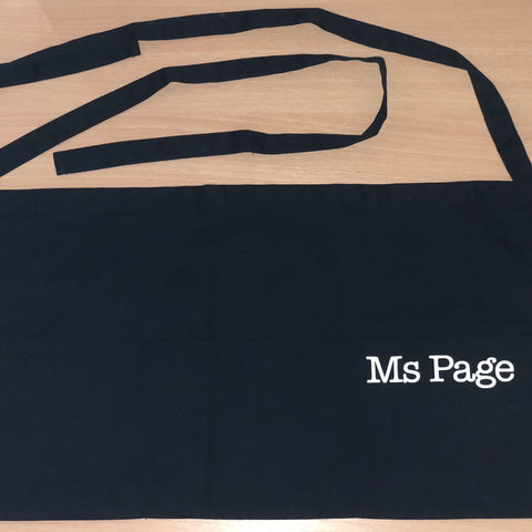 Personalised 'Teacher' Aprons