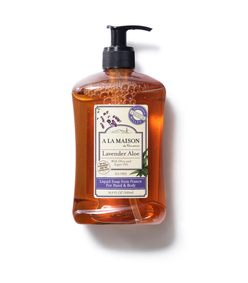 Lavender Aloe French Liquid Soap, 3 pack