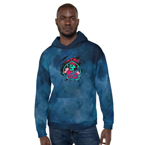 indigo washed Retro Hoodie - therealretro.com