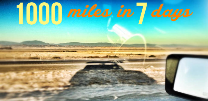 1000 miles in 7 days