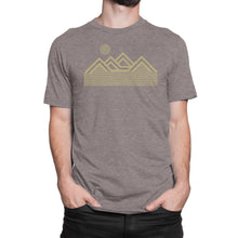 Load image into Gallery viewer, Mountains T Shirt Brown