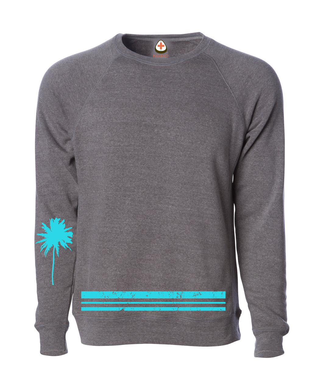 Palm Tree Sweatshirt Aqua