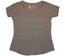 Load image into Gallery viewer, Live in the Sunshine Dolman Tee - Grey
