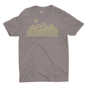 Mountains T Shirt Brown