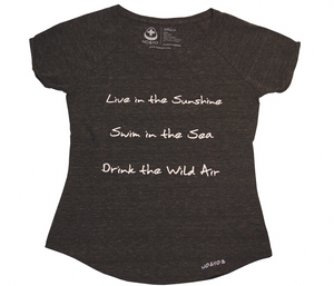 Live in the Sunshine Dolman Tee - Charcoal