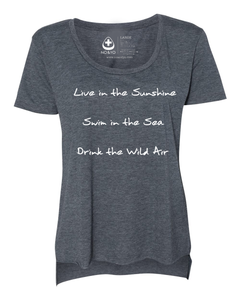 Live in the Sunshine Long Back Scoop Tee