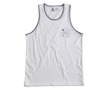 Load image into Gallery viewer, Paddle & Board Tank Top for Mens - Wht