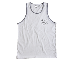 Paddle & Board Tank Top for Mens - Wht