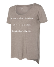 Load image into Gallery viewer, Live in the Sunshine Long Back Scoop Tee