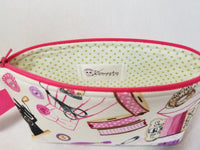 sewing print zippered bag