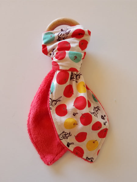 Japanese rabbit print teether with crinkle