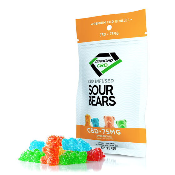 Gomitas infusionadas CBD 75mg - Sour Bears