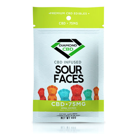 Gomitas infusionadas CBD 75mg - Sour Faces