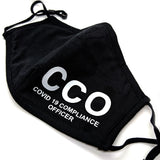 'CCO: Covid 19 Compliance Officer' Face Mask
