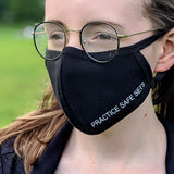 'Practice Safe Sets' Face Mask