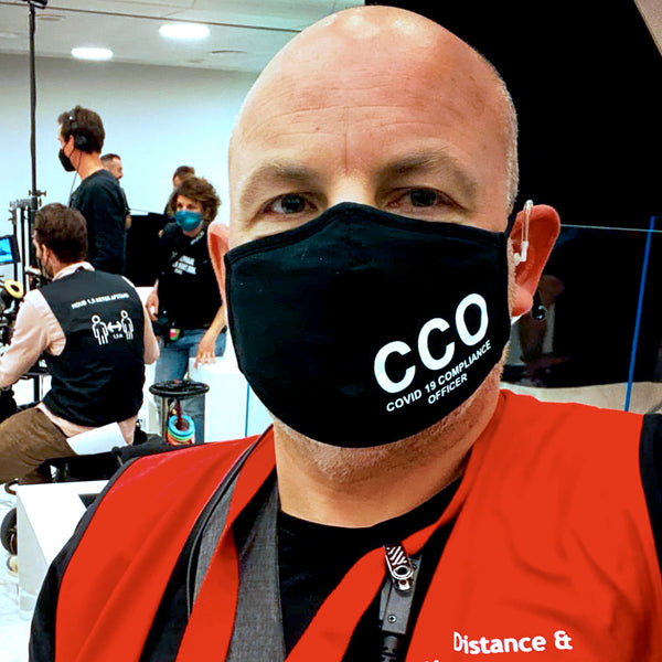 'CCO: COVID-19 Compliance Officer' Face Mask