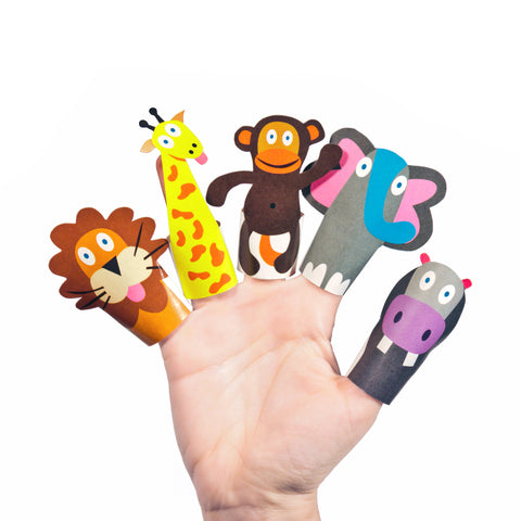 Fantoches de Dedo de Papel - Animais da Selva // Paper Finger Puppets - Jungle Animals