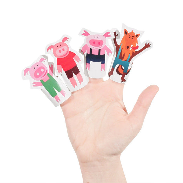 Fantoches de Dedo de Papel - Três Porquinhos // Paper Finger Puppets - Three Little Pigs