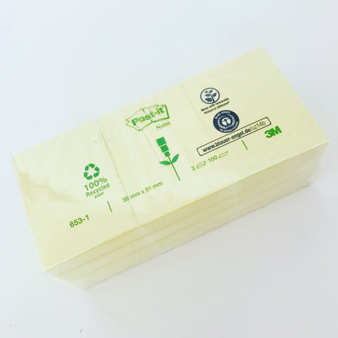 Bloco Post-It reciclado 38x51mm (3 unidades) ... Recycled Post-it