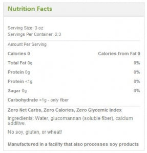 3.Nutrition Facts Miracle Rice