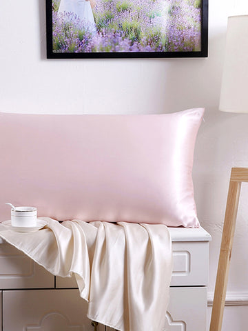 Baby Pink - 100% Pure Mulberry Silk Pillow Case