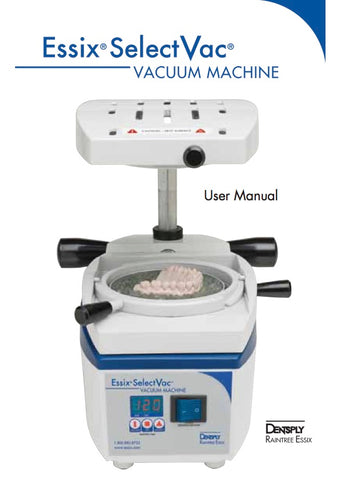 Essix Select Vac machine manual