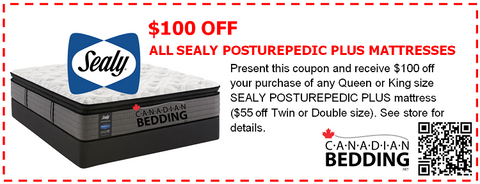 SEALY PLUS $100 OFF COUPON