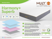 "Load image into Gallery viewer, MLILY® Harmony+ Superb 12"" Gel Memory Foam Mattress-In-A-Box"