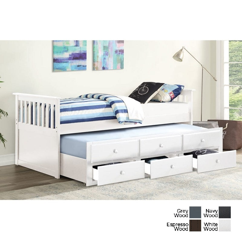 4 Colours - Cottage Captain's Storage Daybed