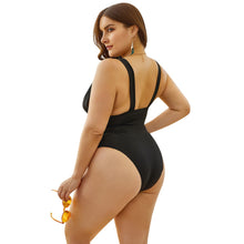 Load image into Gallery viewer, women swimwear one piece plus size swimsuit 2020 black sexy swim bathing suits larges big size beachwear wear suit for female