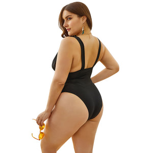 women swimwear one piece plus size swimsuit 2020 black sexy swim bathing suits larges big size beachwear wear suit for female