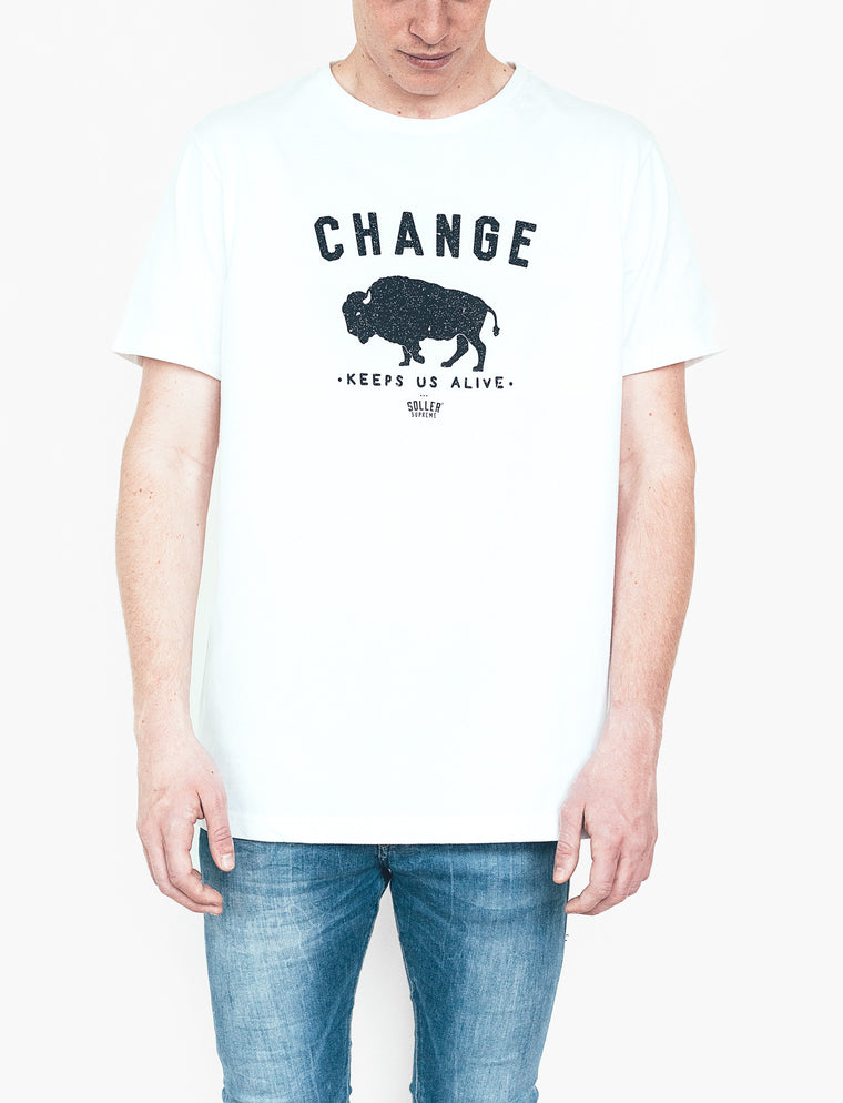 Bison White T-Shirt - Unisex