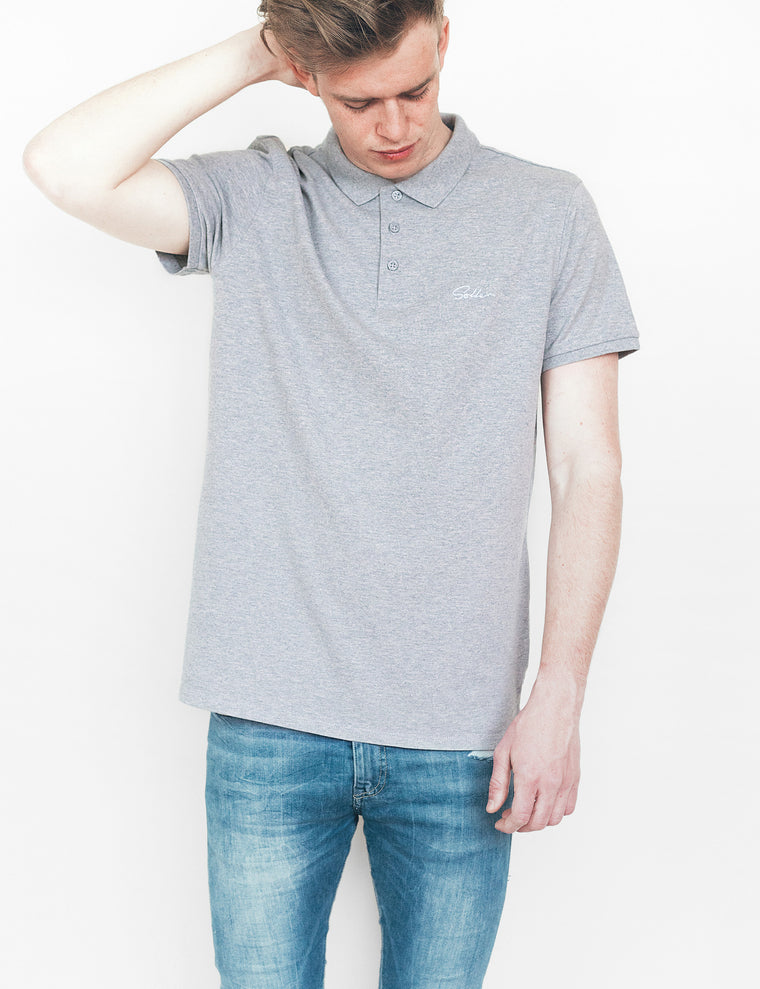 Soller Grey Polo Shirt - Unisex